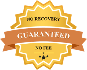 No Recovery No Fee Guarantee badge